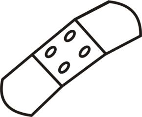 Pflaster - Pflaster, Wundverband, Wunde, Anlaut Pf, Heftpflaster, Erste Hilfe, kleben