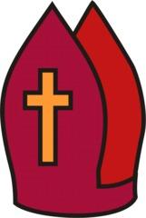 Nikolausmütze - Bischofsmütze, Bischof, Mitra, Anlaut B, Religion, Kopfbedeckung