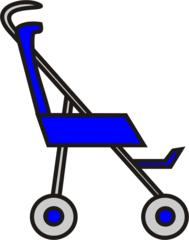 Buggy blau - Buggy, Transport, sportwagen, schieben, Kinderwagen, Kind, Anlaut B