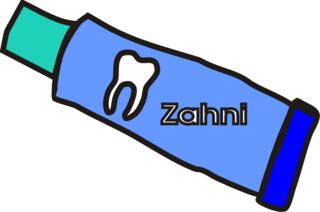 Zahnpasta - Zahnpasta, Zahncreme, Zahn, putzen, sauber, schmutzig, Anlaut Z, Zahnpflege, Körperpflege, Hygiene, Tube, Wörter mit h