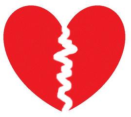Herz #4 - Herz, Liebe, Love, verliebt, Zeichnung, Illustration, Glück, Paar, Gefühl, Unglück, gebrochen, Trennung, Trauer, Liebeskummer, Eifersucht, traurig, Traurigkeit, Enttäuschung