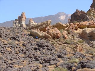 Teneriffa, erstarrte Lava  3 - Teneriffa, Lava, erstarrt, Canadas, Teide, Los Roques de Garcia