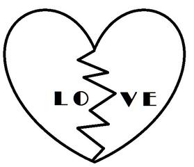 Herz #9 - Herz, Liebe, Love, verliebt, Zeichnung, Illustration, Glück, Paar, Gefühl, Unglück, gebrochen, Trennung, Trauer, Liebeskummer, Eifersucht, traurig, Traurigkeit, Enttäuschung