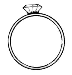 Ring - Ring, Verlobungsring, Ehering, Diamantring, Liebe, Love, Symbol, Verlobung, verloben, Heirat, heiraten, Stein, Diamant, Edelstein, rund, Schmuck, Schmuckstück, Zeichnung, Illustration, Wörter mit ng