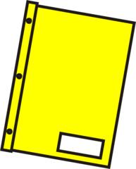 Schnellhefter gelb - Mappe, Hefter, einheften, ordnen, Papier, Blatt, sammeln, Anlaut M, Anlaut Sch