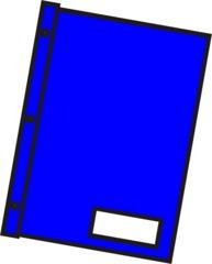 Schnellhefter blau - Mappe, Hefter, einheften, ordnen, Papier, Blatt, sammeln, Anlaut M, Anlaut Sch