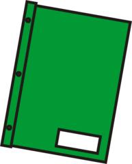 Schnellhefter grün - Mappe, Hefter, einheften, ordnen, Papier, Blatt, sammeln, Anlaut M, Anlaut Sch