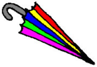 Regenschirm - Regenschirm, Schirm, umbrella, Regen, regnen, Schirm, nass, Anlaut Sch, Anlaut R, Gebrauchsgegenstand, Stiel, Plane, Nylon, Griff, bunt