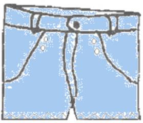 Shorts - Shorts, Kleidung, clothes, Hose, Hosenbund, Hosenbeine, kurz, Taschen, Bekleidung, Anlaut H