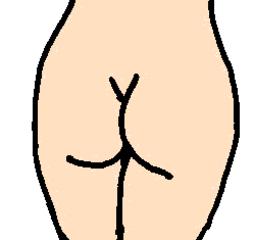 Po - Po, Hintern, Körper, Körperteile, body, body parts, bottom, bum, buttocks, Popo, Gesäß