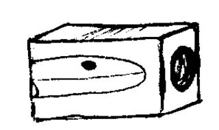 Anspitzer - Anspitzer, anspitzen, eraser, Stift, Schulsachen, Schule, Unterricht, Spitzer