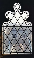 London - Blick durch ein Fenster der Tower Bridge - Tower Bridge, London, Brücke, Fenster, Gitter