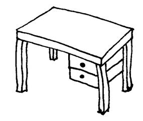Schreibtisch - Schreibtisch, Pult, Lehrerpult, Arbeitszimmer, Einrichtung, Möbel, Klassenzimmer, Haus, Schule