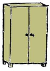 Schrank - Schrank, Kleiderschrank, Einrichtung, Möbel, Klassenzimmer, Zimmer, Haus, Anlaut Sch