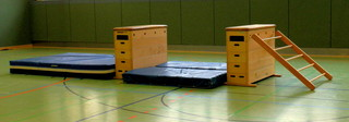 Aufbauhilfe Kastenkombination - Kasten, Aufbau, Hilfe, Matte, Sport, Aufbauhilfe