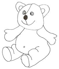 Teddy - Teddy, Bär, Spielsachen, Spielzeug, Schmusetier, spielen, lieb, brummen, Anlaut T, Anlaut B
