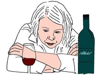 Alkohol Sucht - farb - Sucht, Alkohol, Alkoholsucht, Ethik, trinken, Glas, Flasche, Absturz, Gesundheit, Prävention, Impuls, Drogen, Suchtgefahr, Gefahr, Problem, krank, Krankheit, krankhaft, süchtig, Rausch, Promille, betrunken, Trunkenheit, Konsum, verkatert, Entwöhnung, entwöhnen, entgiften, Entgiftung