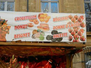 sucreries - Frankreich, civilisation, sucrerie, Süßigkeit, marché, Noel, Weihnachtsmarkt, naschen, Stand