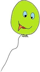 Luftballon 5 grün - Luftballon, Ballon, Luft, Party, Geburtstag, Grün, Gas, Auftrieb, Karneval, Fasching, schweben, fliegen, Feier