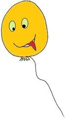 Luftballon 5 orange - Luftballon, Ballon, Luft, Party, Geburtstag, Orange, Gas, Auftrieb, Karneval, Fasching, schweben, fliegen, Feier