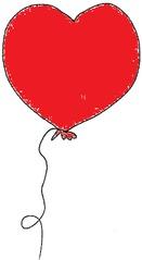 Luftballon 3 rot - Luftballon, Ballon, Luft, Party, Geburtstag, Herz, Valentinstag, Rosa, Liebe, Hochzeit, Fasching, Karneval