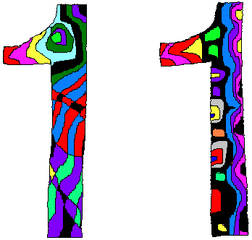 Elf - Elf, Zahl, Ziffer, Muster, Kunst, Mathematik