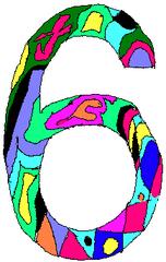 Sechs - Sechs, Zahl, Ziffer, Muster, Kunst, Mathematik
