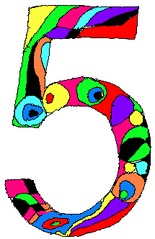 Fünf - Fünf, Zahl, Ziffer, Muster, Kunst, Mathematik
