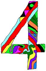 Vier - Vier, Zahl, Ziffer, Muster, Kunst, Mathematik