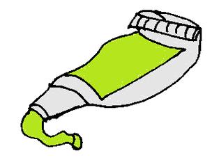 Farbtube hellgrün - Farbtube, Tube, Farbe, Kunst, malen, Grün, Hellgrün