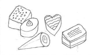 Pralinen - Praline, Konfekt, Schokolade, Süßware, Glück, Liebe, verliebt