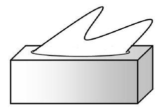 Papiertaschentücher s/w - Papiertaschentücher, Zellstoff, Taschentuch, Kosmetik, Kosmetiktuch, Kleenex, Tempo, Box, Karton, Bad, Pflege, Quader, Kante, Winkel, Zeichnung, Illustration