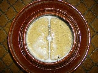 Herstellung von Sauerkraut #8 - Gärtopf, Sauerkraut, Herstellung, Milchsäuregärung, Kohlgemüse, Wintergemüse, Vitamin, Milchsäure, kalorienarm, Kraut, beschweren