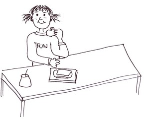 Frühstück am Platz - Klassenregel, Frühstück, frühstücken, Jause, Pause, jausnen, essen, Symbolkarte, Organisation, Mahlzeit