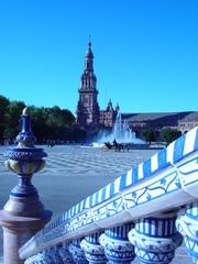 Sevilla monumentos Plaza de Espana - Sevilla, monumentos, Plaza de Espana, Landeskunde Spanien