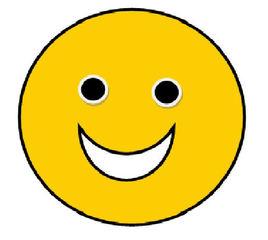 Smiley #1 - freudig  lachend - Smiley, Zeichen, Zeichnung, Illustration, Button, Bewertung, Symbol, sehr gut, fein, toll, lachen, Freude
