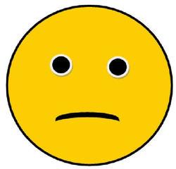 Smiley #4 -traurig - Smiley, Zeichen, Zeichnung, Illustration, Button, Bewertung, Symbol, na ja, du kannst es besser, üben