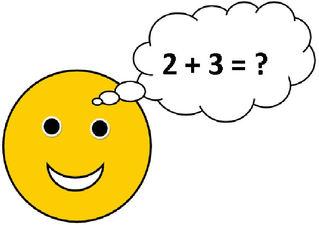 Smiley #14 - Smiley, Button, Illustration, Zeichnung, Symbol, Hinweis, Auftrag, Arbeitsauftrag, Aufgabe, Rechnen, Mathe, lösen, Sprechblase