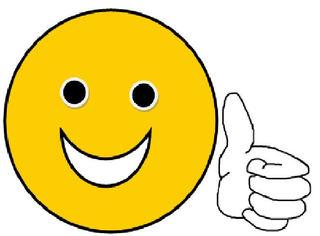 Smiley #15  Daumen hoch - Smiley, Daumen, Lob, lachen, Anerkennung, Daumen hoch, super, gut, sehr gut, Bewertung, gut gemacht, Zeichnung, Illustration, gefällt mir, Symbol