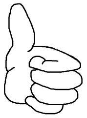 Daumen hoch - Daumen, Hand, Finger, Daumen hoch, gut gemacht, Lob, Anerkennung, Zeichnung, Illustration, Symbol, gefällt mir