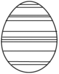 Osterei gestreift - Osterei, Ei, Ostern, Streifen, stripes