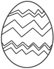 Osterei Zickzackmuster - Osterei, Ei, Ostern, Zickzackmiuster, zigzag