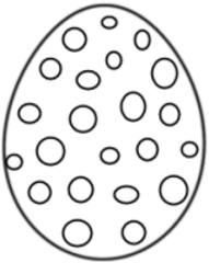 Osterei gepunktet - Osterei, Ei, Ostern, Punkte, dots