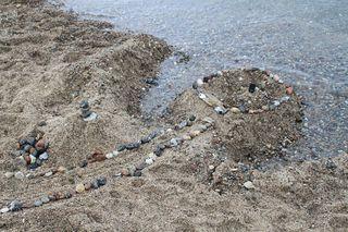 Sandburg#3 - Sandburg, Spiel, Urlaub, Kreativität, Burg, Sand, Wasser, bauen, Strand, Meer