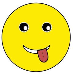 Smiley #23 frech - Smiley, Zeichen, Zeichnung, Illustration, Button, Bewertung, Symbol, frech, kess, Zunge, rausstrecken, Emotion, Gefühl