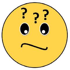 Smiley #32 ratlos - Smiley, Zeichen, Zeichnung, Illustration, Button, Bewertung, Symbol, Emotion, Gefühl, unsicher, Fragen, fragend, Fragezeichen, unentschlossen, ratlos