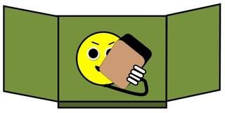 Tafeldienst farbig - Schwamm, Tafel, putzen, feucht, Tafeldienst, Ordnungsdienst, wischen, Tafelschwamm, Quader, nass, Wasser, Zeichnung, Illustration, Smiley
