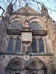 La cathédrale de Strasbourg - das Strassburger Münster 3 - Münster, Kathedrale, Sandstein, Rosette, Fensterrose, Uhr