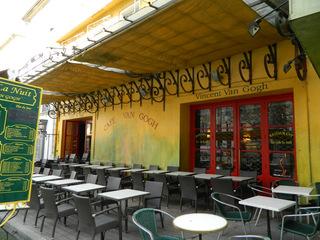 Arles Café Van Gogh - Frankreich, civilisation, Arles, Van Gogh, Gemälde, Café, gelb