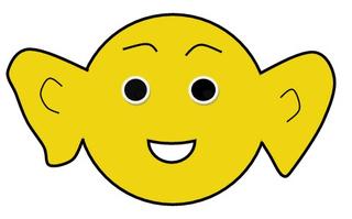 Smiley  Zuhören! - Smiley, Zeichnung, Illustration, Symbol, zuhören, hören, Ohren, groß, aufmerksam, Impulskarte